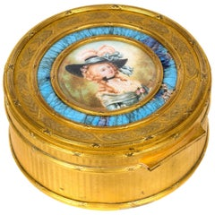 Portrait by Lié Louis Périn-Salbreaux on an Enameled Ormolu Snuffbox