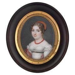 Portrait Miniature Jean-Baptiste Couvelet, French, 1772-1830