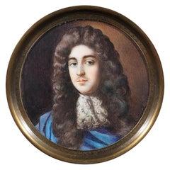 Portrait Miniature Louis of France, '1661-1711' Le Grand Dauphin