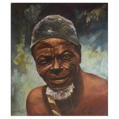 Portrait of a Black Man by Lufungula circa 1950