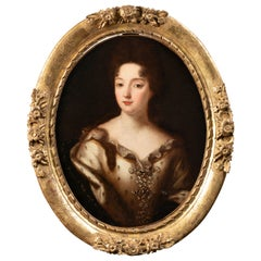 Portrait of a Blood Princess During the Reign of Louis XIV Entourage P. Mignard