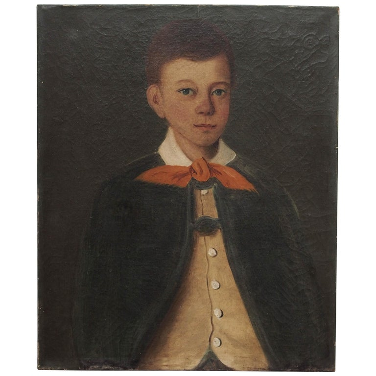 Portrait of a Boy, French, circa 1830 For Sale
