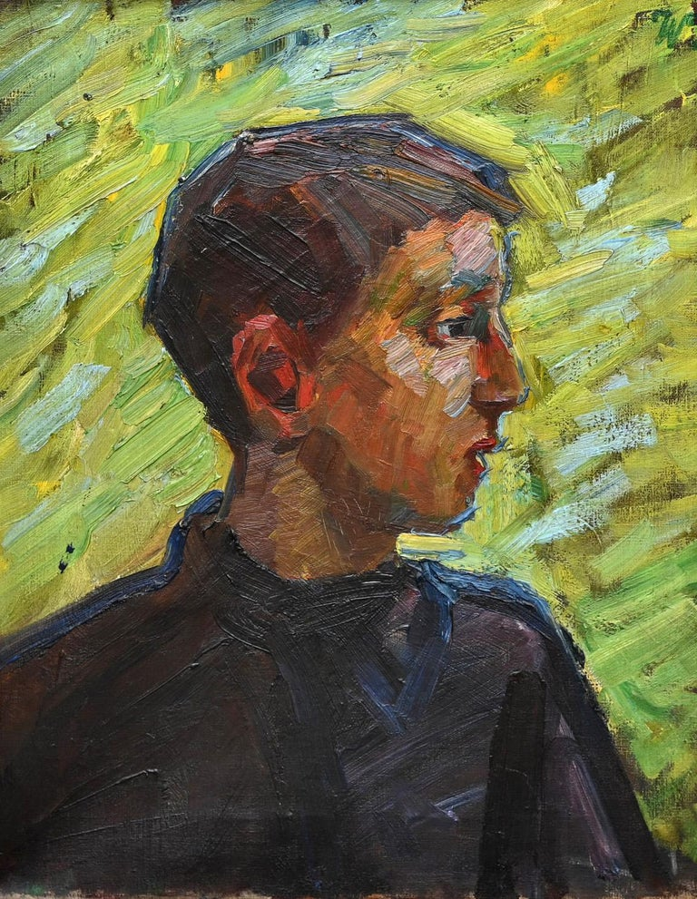 Portrait of a boy, German , oil on Canvas , 