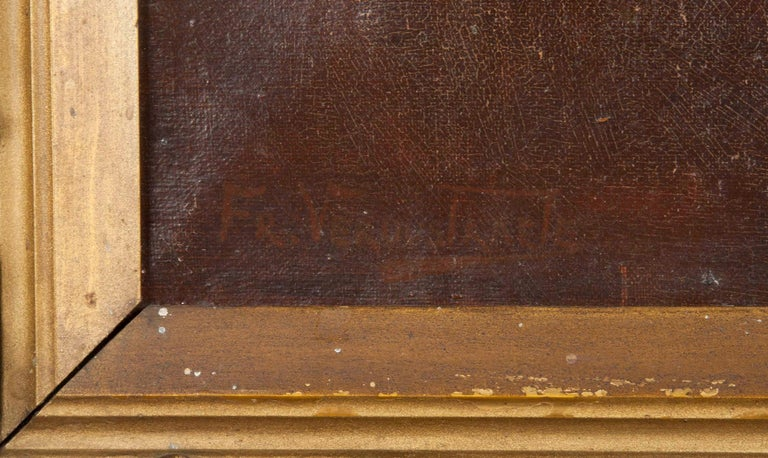 Portrait of a Fox-Terrier, 19th Century Oil Painting In Good Condition For Sale In Casteren, Noord-Brabant