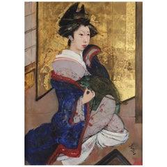 Portrait of a Geisha by Roland Strasser, Impressionist