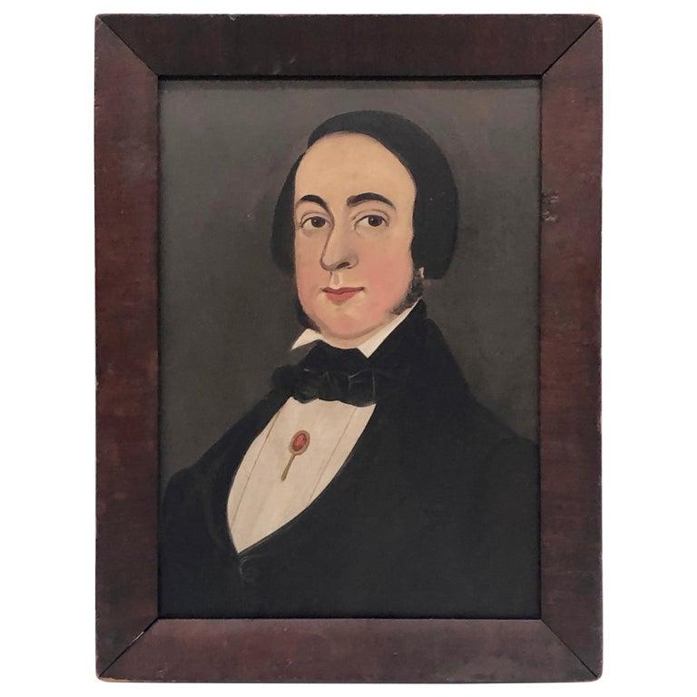 """Portrait of a Gentleman"" American Prior-Hamblin School For Sale"