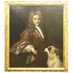 'Portrait of a Gentleman and a Dog' by Circle of Sir Peter Lely, 17th Century