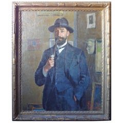 Portrait of a Gentleman Signed 'Ricardo Pellicciotti'