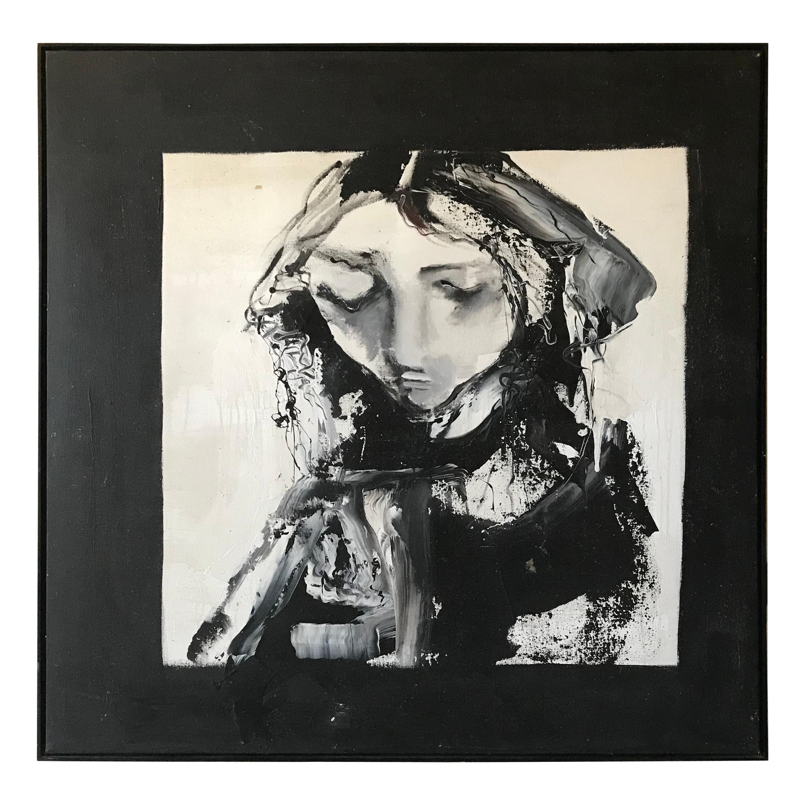 Portrait of a Girl by Gino Hollander, Oil on Canvas
