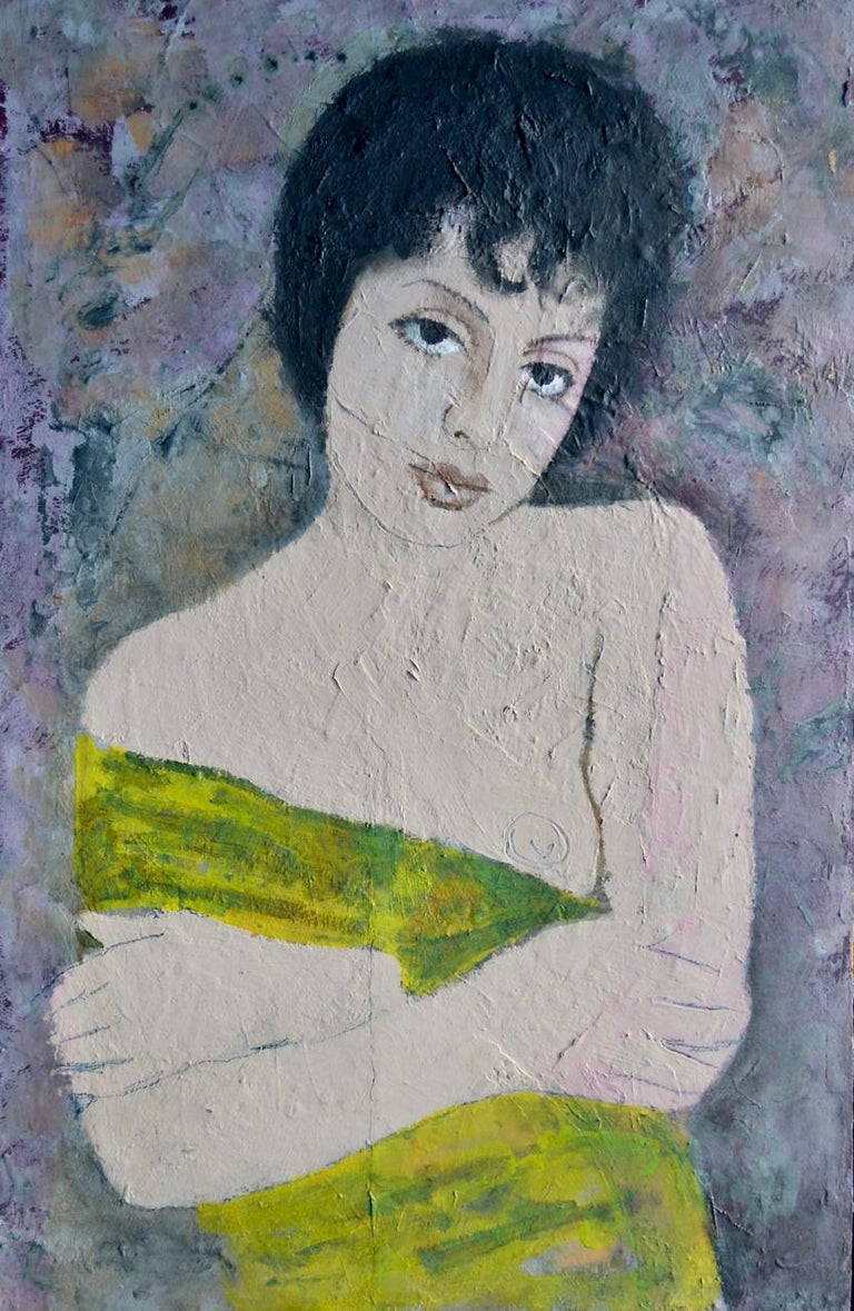 English Portrait of a Girl Oil on Board