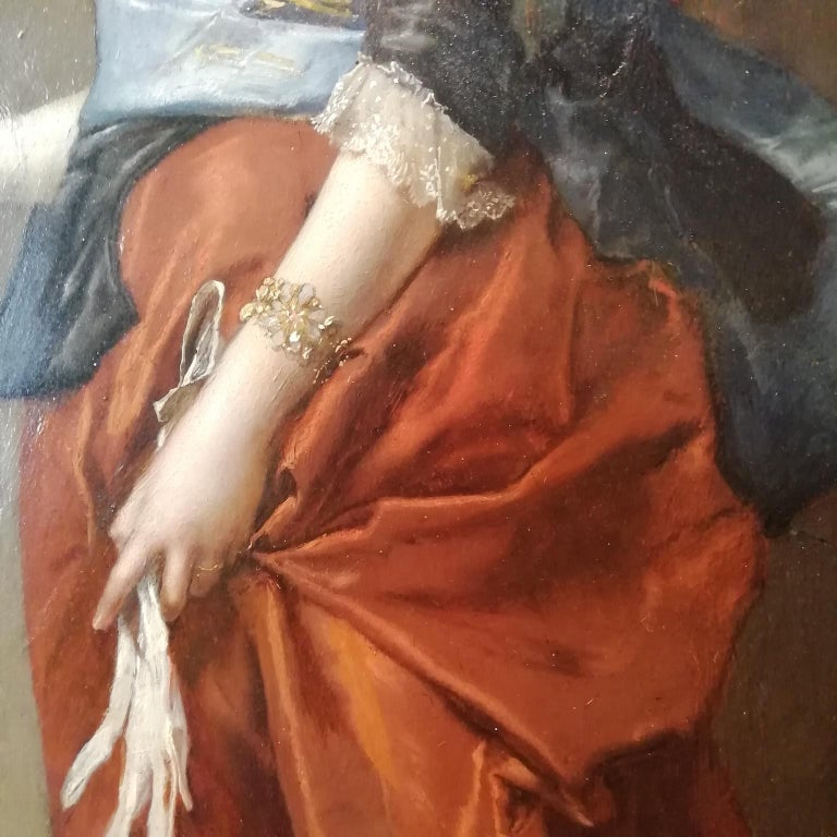 Portrait of a Lady, Jules Goupil Belle Epoque Oil on Wood French Painting 1870s For Sale 2