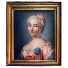 Portrait of a Lady Late 18th Century French Pastel