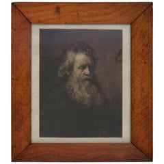 Portrait of a Man, after Rembrandt, Etching, circa 1850
