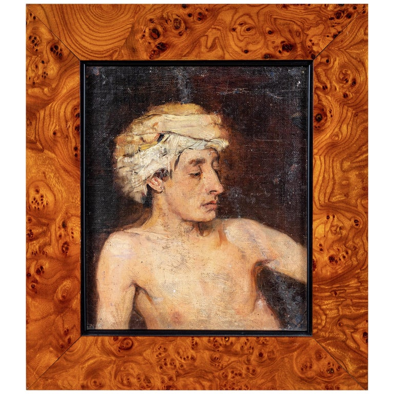 Portrait of a Man in a Turban For Sale