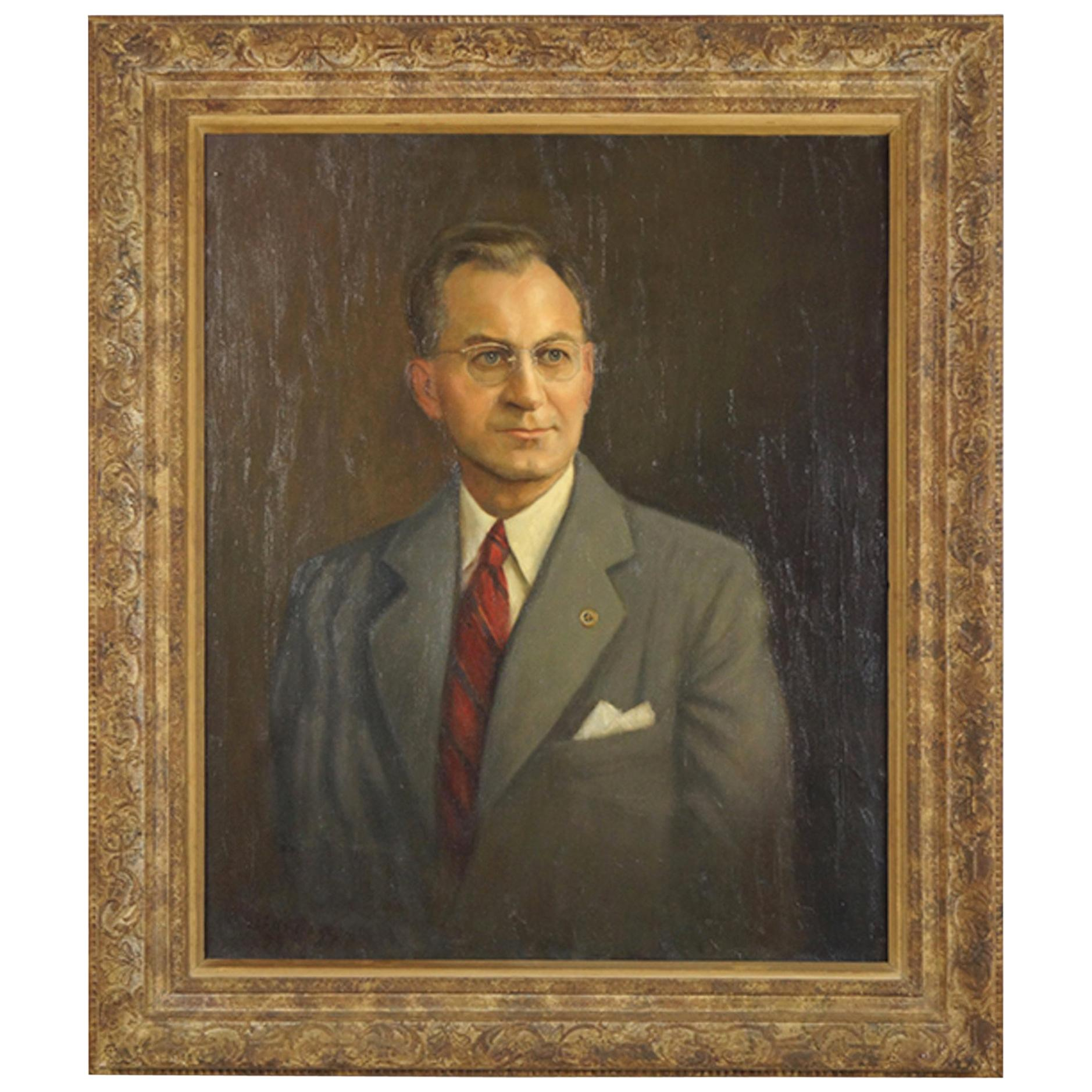 Portrait of a Man in Giltwood Frame