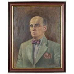 Portrait of a Man, Oil on Canvas, Signed by the Author, circa 1937