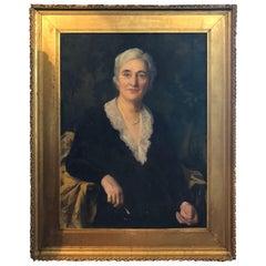 Large Portrait of a Woman by Alphaeus Philemon Cole