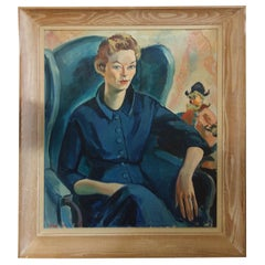 Portrait of a Woman in Blue by Ruth Van Sickle Ford