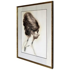 Portrait of a Young Woman with Big Beehive Hairdo