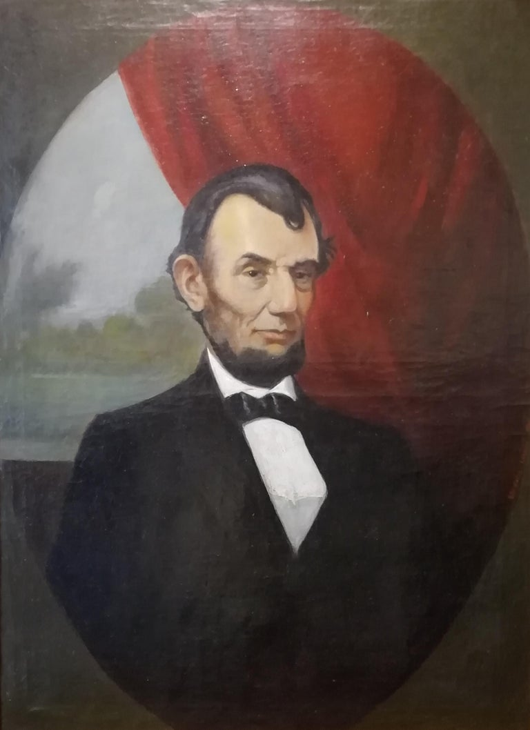 Charles De Wolf Brownell (6 febbraio 1822, Providence, Rhode Island, Stati Uniti, 6 giugno 1909, Bristol, Rhode Island, Stati Uniti) Potrait of Abraham Lincoln Signed and dated lower right: Brownell Charles, 1861  Charles Brownell was born in