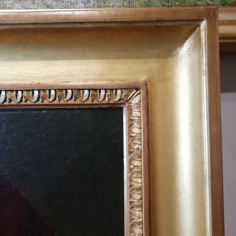 Portrait of Abraham Lincoln, Charles Brownell 19 Century Oil American Painting For Sale 2