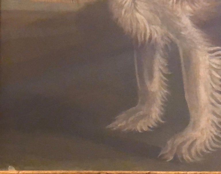 Hand-Painted Portrait of a Cavalier King Charles Spaniel, oil on canvas, 20th Century  For Sale