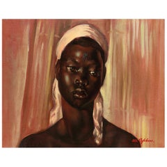 Portrait of an African Woman, Madeleine Lefebvre, Congolese/Mutshioko, 1946