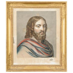 Portrait of Christ in a Giltwood Empire Frame