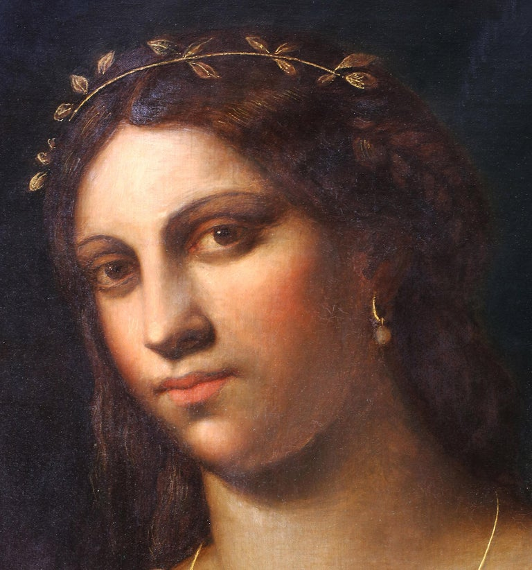 Italian Portrait of La Fornarina after Sebastian Del Piombo For Sale