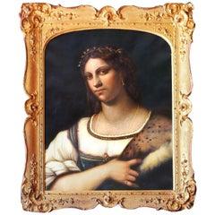 Portrait of La Fornarina after Sebastian Del Piombo