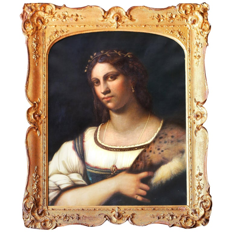 Portrait of La Fornarina after Sebastian Del Piombo For Sale