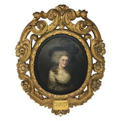 Portrait of Lady Louisa Stuart by Mrs. Mee, circa 1785
