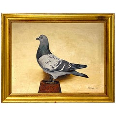 "Portrait of Racing Pigeon ""Little Lena"", Signed and Dated, M.H. Paget, 1911"