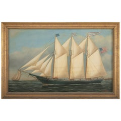 """Portrait of the Ship """"Fred W. Chase"""" of Maine"""