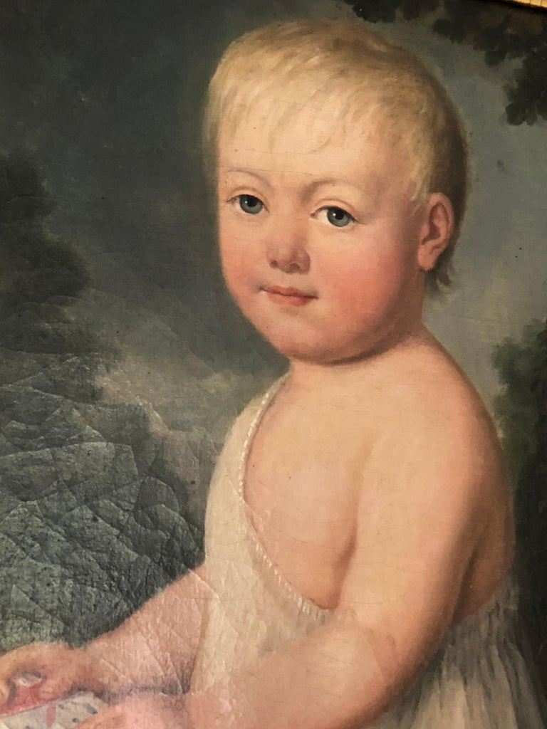George III Portrait of Young Child with Toys, 19th Century For Sale