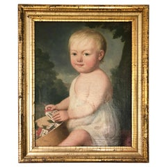 Portrait of Young Child with Toys, 19th Century
