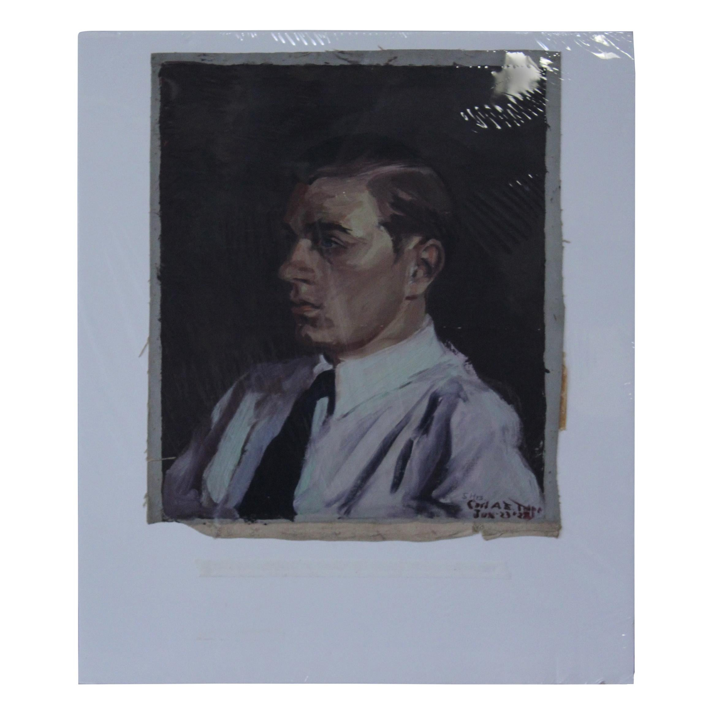 Portrait of Young Man, Oil on Canvas