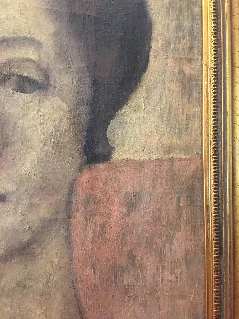 Art Deco Portrait Oil on Canvas Painting Signed Richardson Paris 1933 For Sale