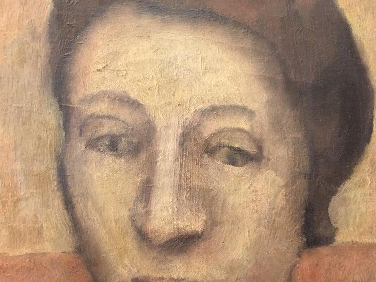 French Portrait Oil on Canvas Painting Signed Richardson Paris 1933 For Sale