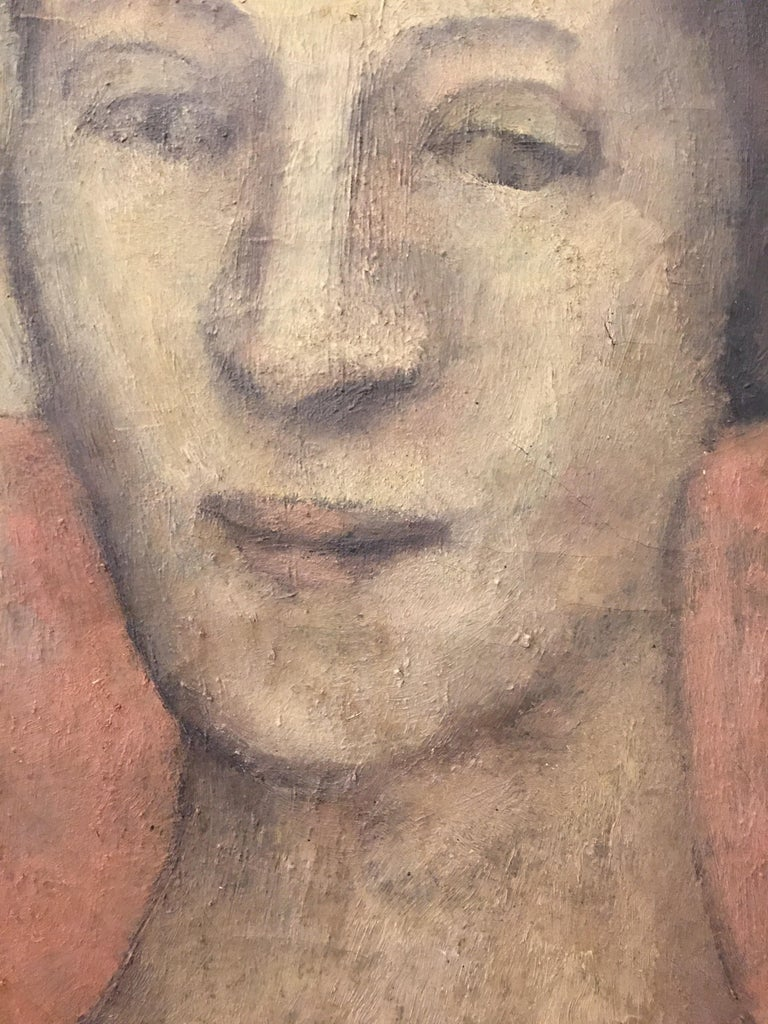 Portrait Oil on Canvas Painting Signed Richardson Paris 1933 In Good Condition For Sale In Philadelphia, PA