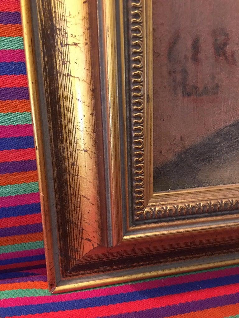 Mid-20th Century Portrait Oil on Canvas Painting Signed Richardson Paris 1933 For Sale