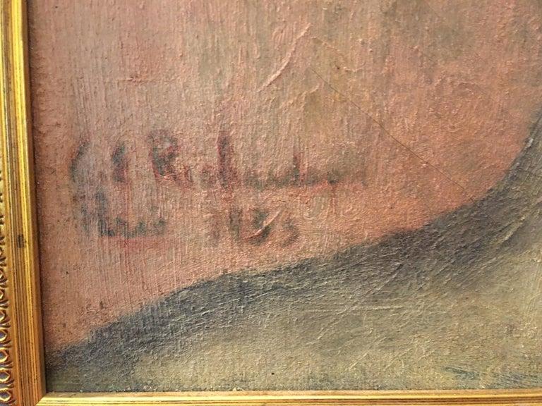 Portrait Oil on Canvas Painting Signed Richardson Paris 1933 For Sale 1