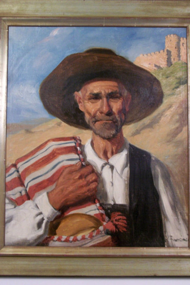 American Portrait Painting by California Artist John Bond Francisco, Early 20th Century For Sale