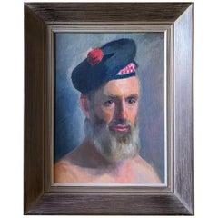 Portrait Painting of Eiler Larsen Attributed to Virginia McElroy