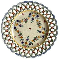 Portugese Garland Flower Motif Decorative Vide-Poche, Portugal