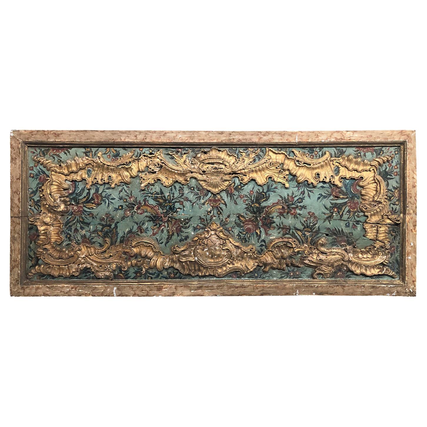 Portuguese 18th Century Boiserie Panel