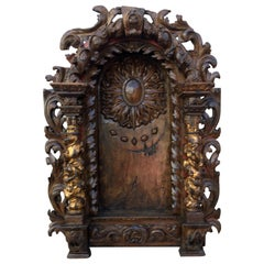 Portuguese, 18th Century Carved Wood Oratory