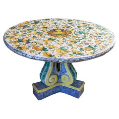 Portuguese Painted Ceramic Table