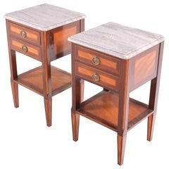 Portuguese Pair of Bedside Tables, D. Maria Style