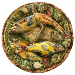 Portuguese Pallisy Style Plate with Fishes